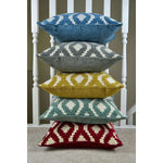 Cargar imagen en el visor de la galería, McAlister Textiles Arizona Geometric Duck Egg Blue Cushion Cushions and Covers