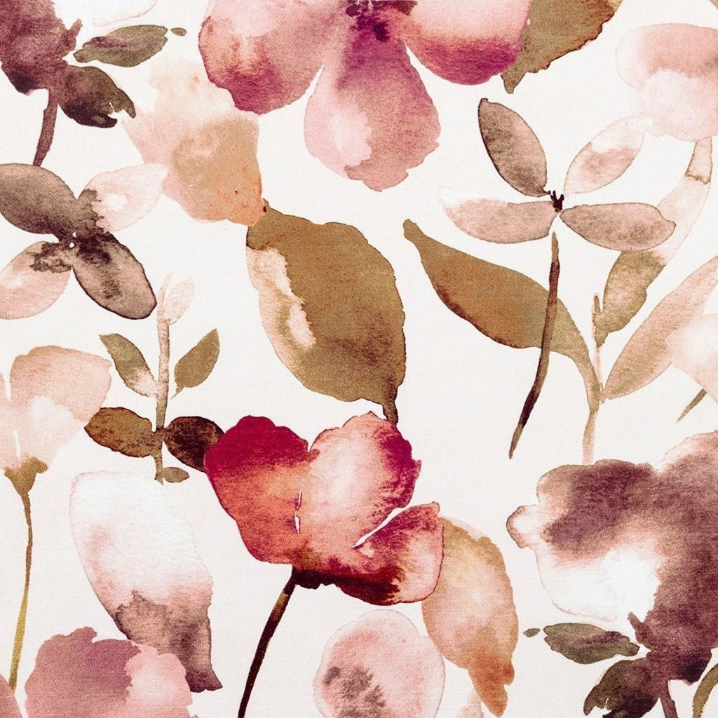 McAlister Textiles Blush Pink Floral Velvet Fabric Fabrics