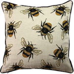 Load image into Gallery viewer, McAlister Textiles Bug's Life Bumble Bees Cushion Cushions and Covers Cover Only