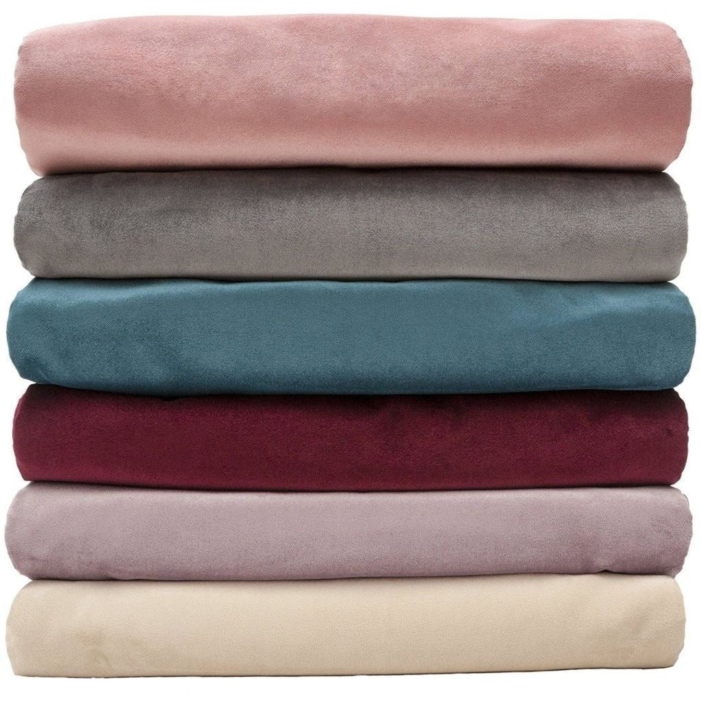 McAlister Textiles Matt Blush Pink Velvet Throw Blanket Throws and Runners