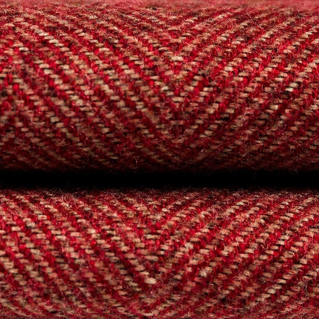 McAlister Textiles Herringbone Red Throws & Runners Throws and Runners