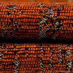 mcalister-textiles-burnt-orange-textured-chenille-fabric-close-up-shot