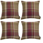 Laden Sie das Bild in den Galerie-Viewer, McAlister Textiles Heritage Purple + Green Tartan 43cm x 43cm Cushion Sets Cushions and Covers Cushion Covers Set of 4