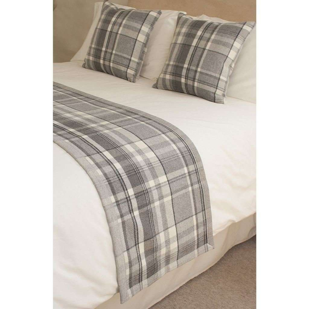 McAlister Textiles Heritage Charcoal Grey Tartan Throw Throws and Runners