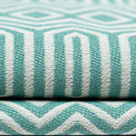 Load image into Gallery viewer, McAlister Textiles Colorado Geometric Duck Egg Blue Fabric Fabrics