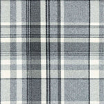 Load image into Gallery viewer, McAlister Textiles Deluxe Large Tartan Charcoal Grey Box Cushion Box Cushions