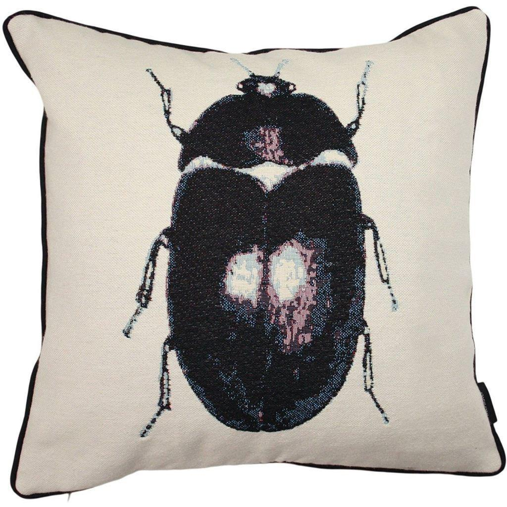 McAlister Textiles Bug's Life Black Beetle Cushion Cushions and Covers Cover Only