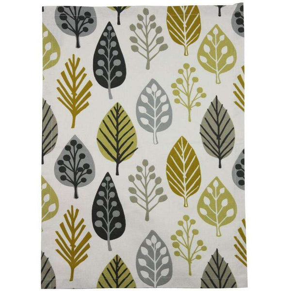 McAlister Textiles Magda Cotton Ochre Yellow Tea Towel Sets Kitchen Accessories