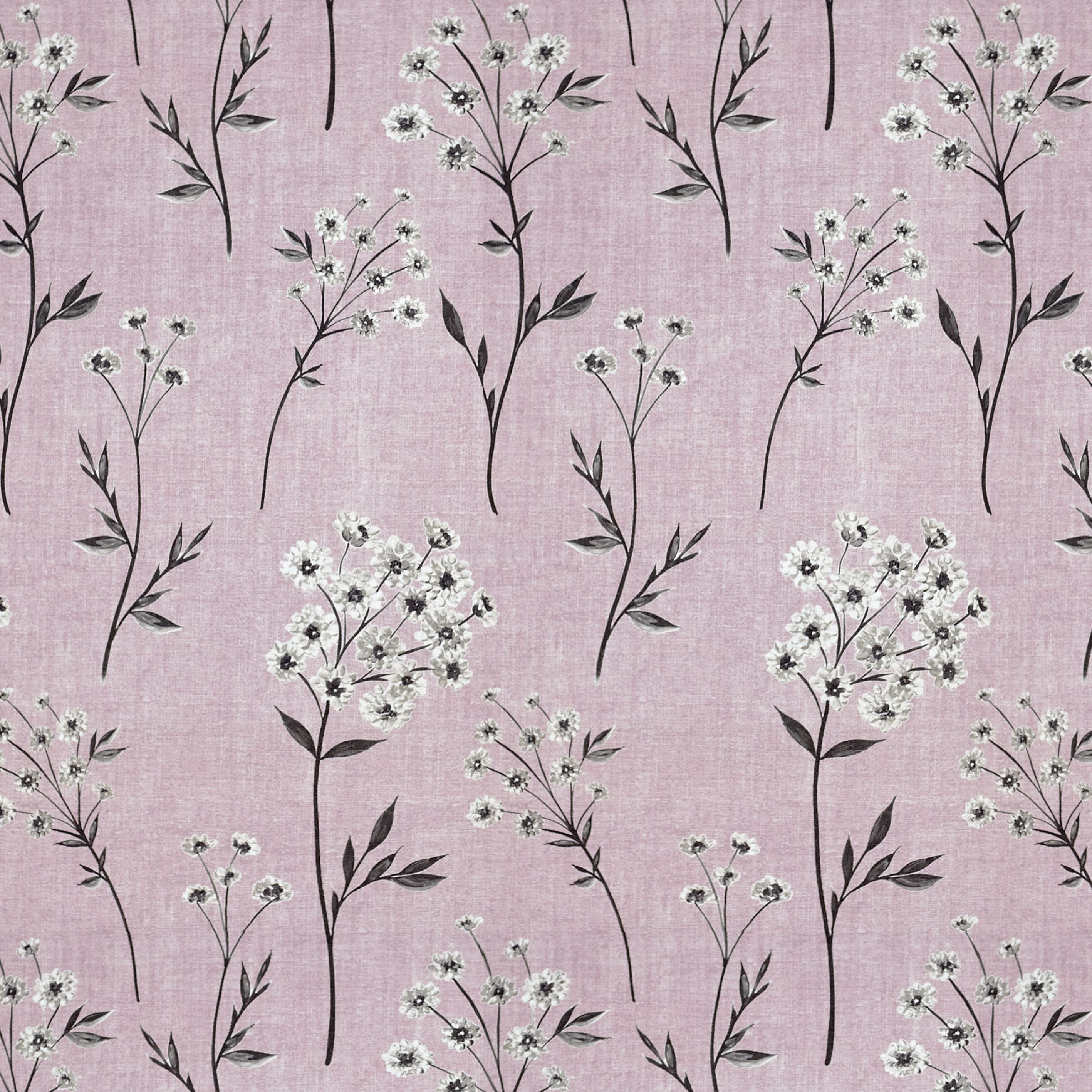 McAlister Textiles Meadow Blush Pink Floral Cotton Print Fabric Fabrics
