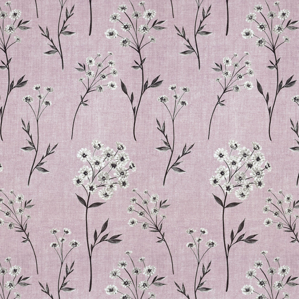 McAlister Textiles Meadow Blush Pink Floral FR Fabric Fabrics 1/2 Metre