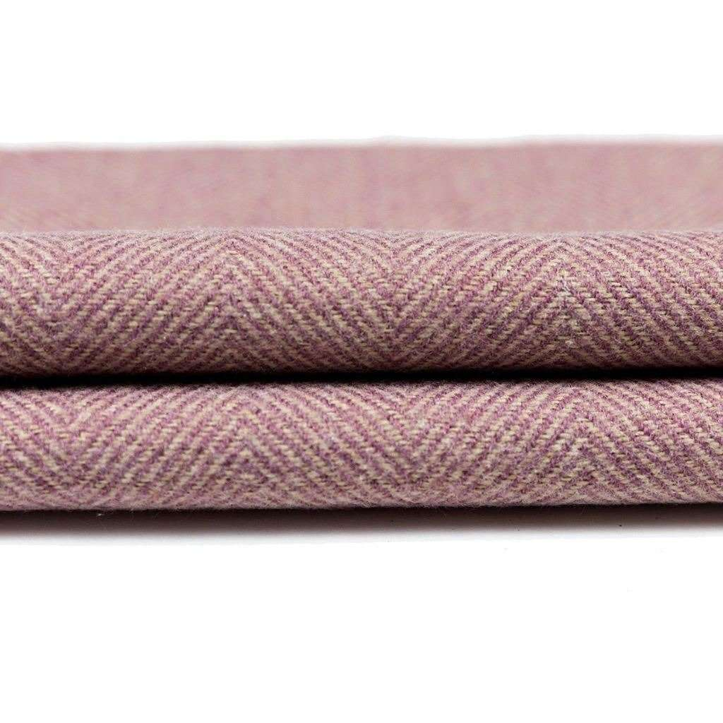 McAlister Textiles Herringbone Boutique Purple + Grey Throw Blanket Throws and Runners