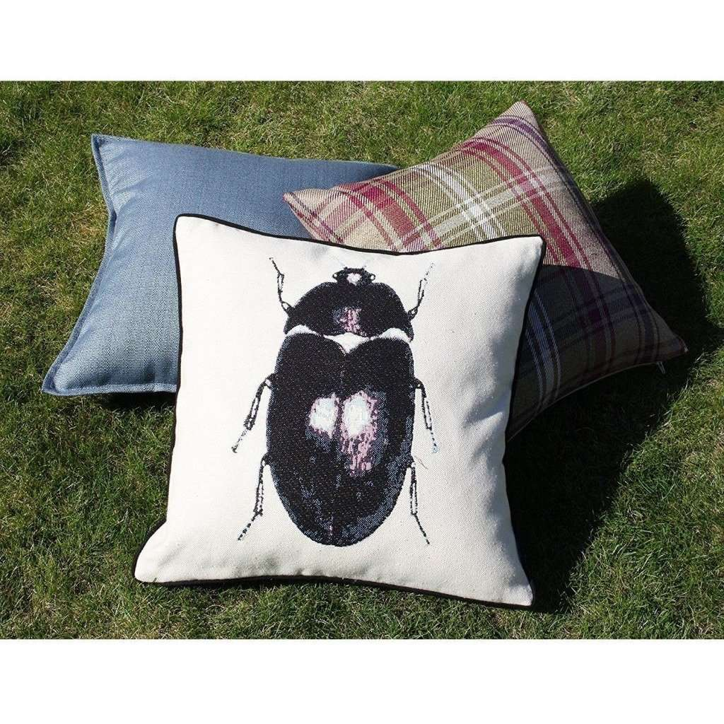 McAlister Textiles Bug's Life Black Beetle Cushion Cushions and Covers