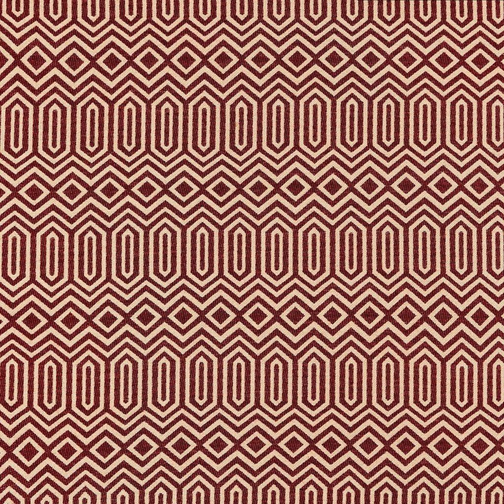 McAlister Textiles Colorado Geometric Red Fabric Fabrics 1 Metre