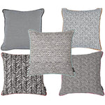 Cargar imagen en el visor de la galería, McAlister Textiles Aztec Geometric Black + White 43cm x 43cm Cushion Sets Cushions and Covers Set of 5 Cushion Covers