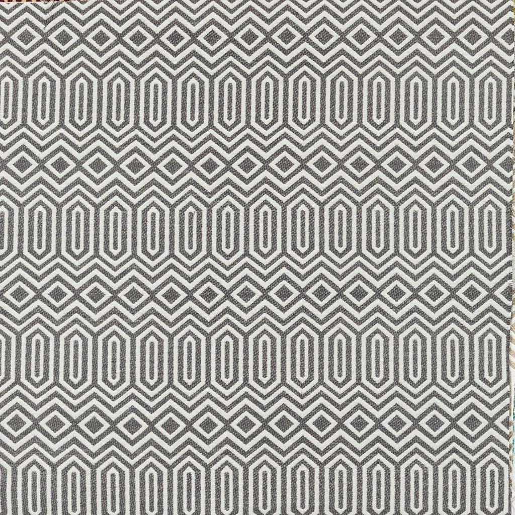 McAlister Textiles Colorado Geometric Pattern Fabric - Charcoal Grey-Fabrics-
