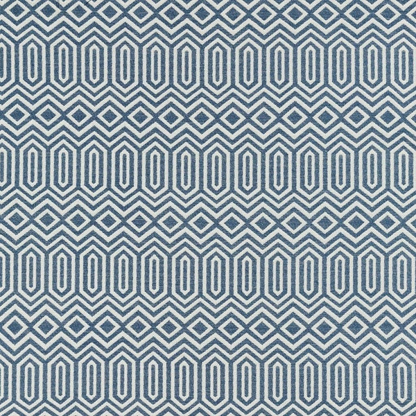 McAlister Textiles Colorado Geometric Navy Blue Fabric Sample Fabrics