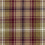 Load image into Gallery viewer, McAlister Textiles Angus Purple + Green Tartan Check Curtain Fabric Fabrics