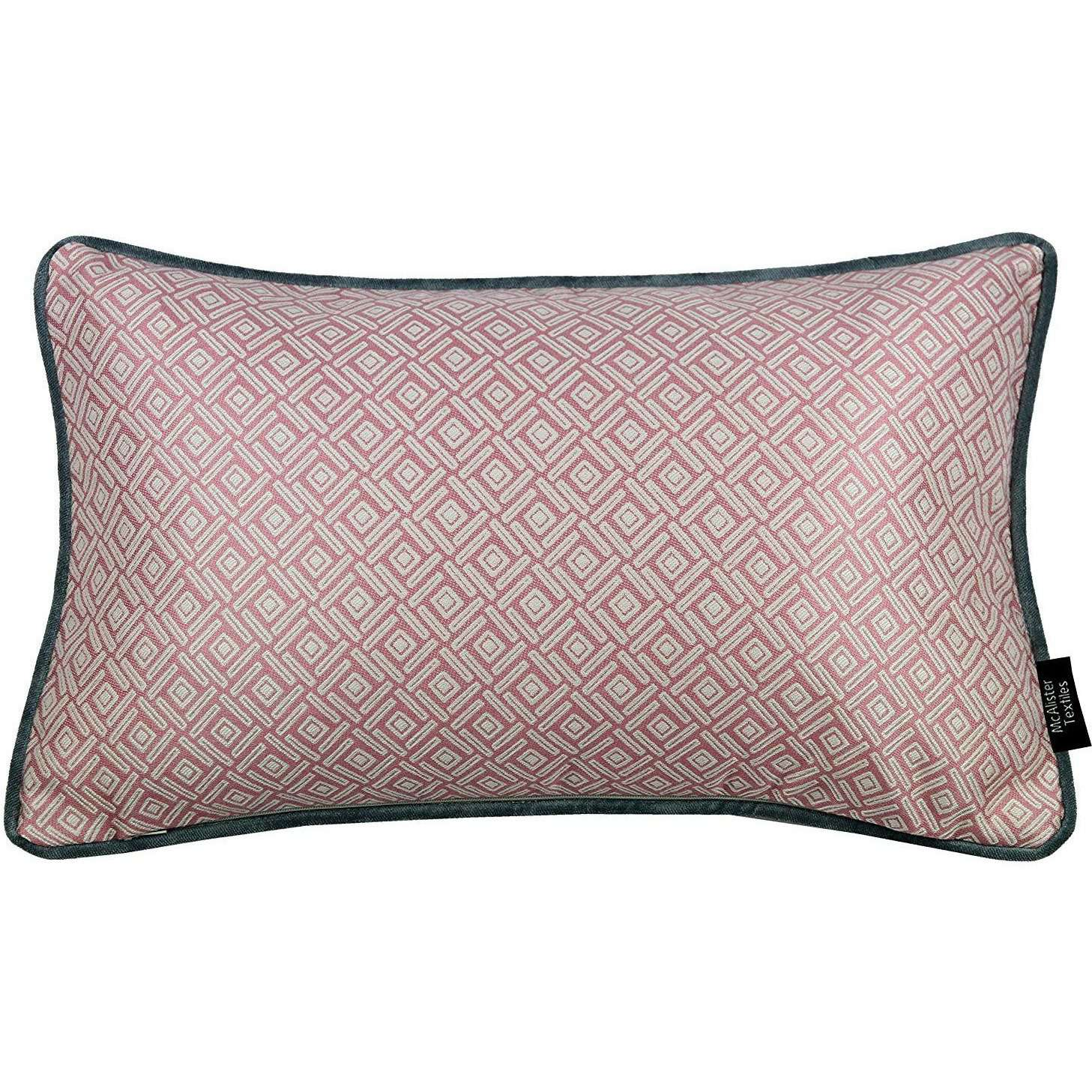 McAlister Textiles Elva Geometric Blush Pink Cushion Cushions and Covers Cover Only 50cm x 30cm