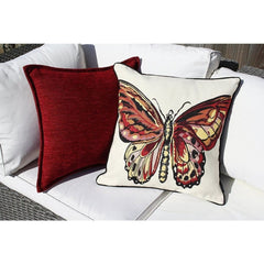 McAlister Textiles Bugs Life Print Design Tapestry Fabric Pillow Cushion Covers Butterfly