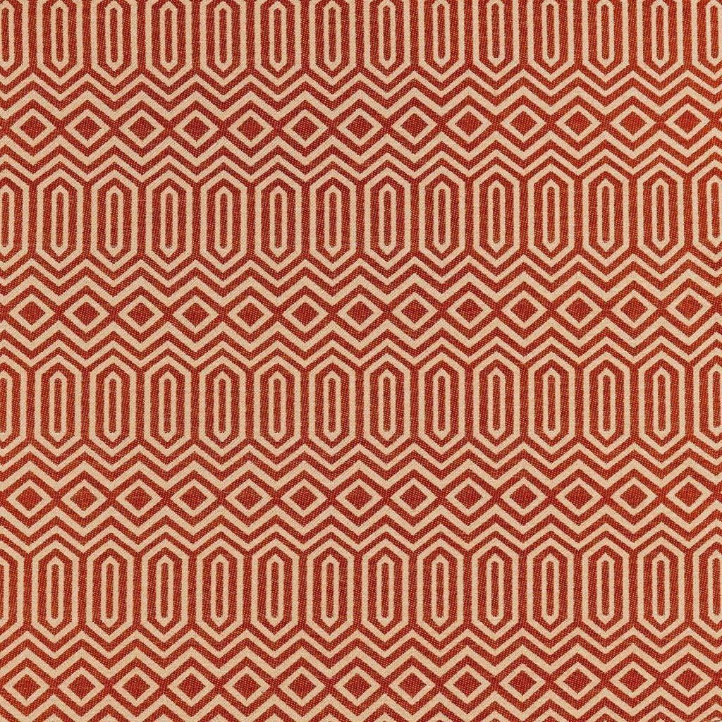 McAlister Textiles Colorado Geometric Burnt Orange Fabric Fabrics 1 Metre