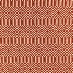 McAlister Textiles Colorado Geometric Pattern Print Tailored Curtains Made To Measure Woven Fabric Orange Close Up