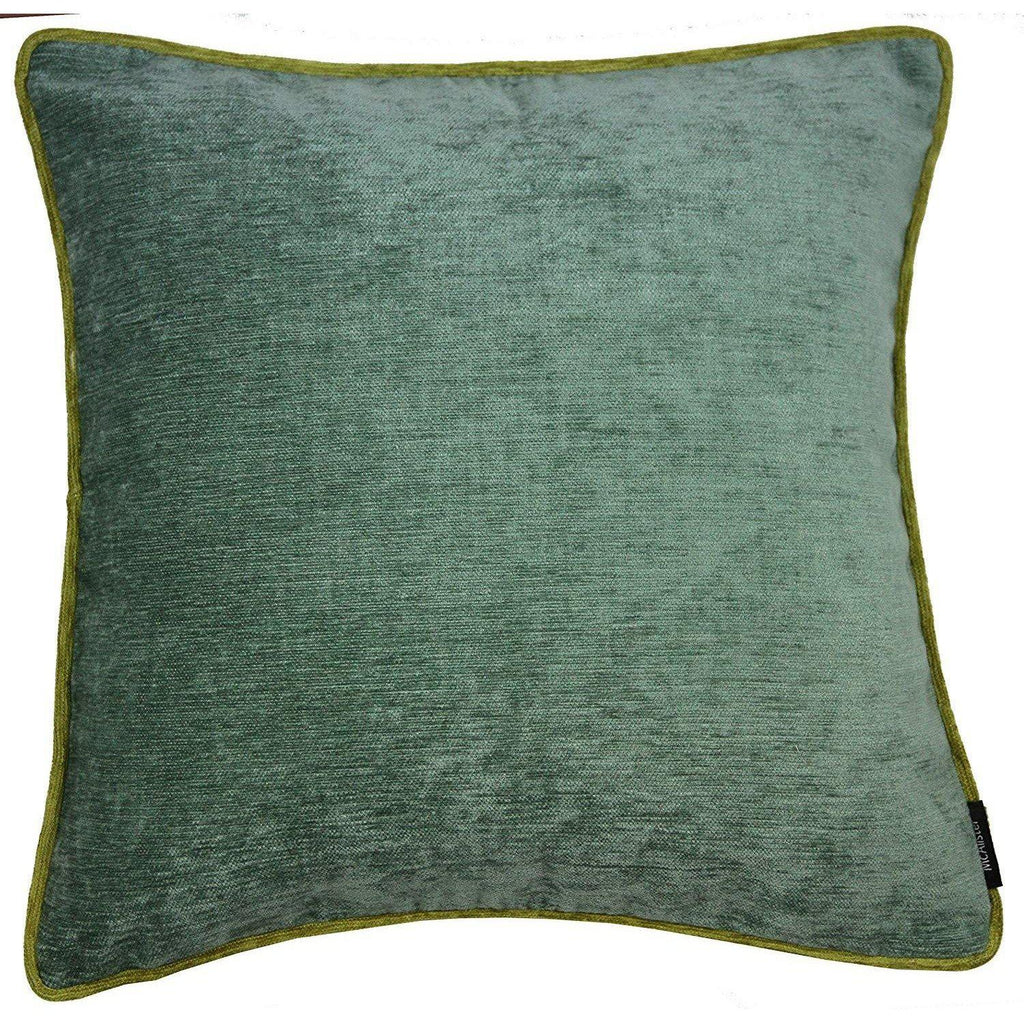 McAlister Textiles Alston Chenille Duck Egg Blue + Green Cushion Cushions and Covers Cover Only 43cm x 43cm