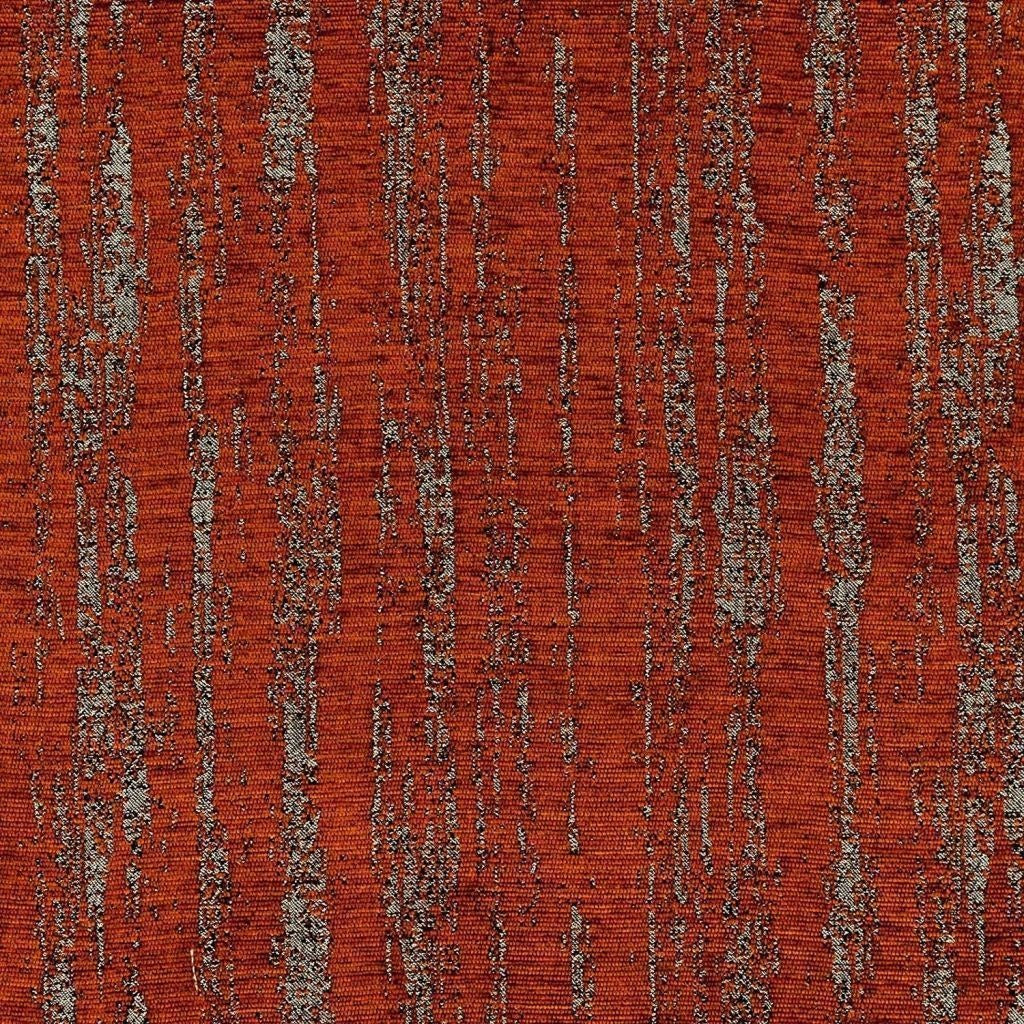 McAlister Textiles Textured Chenille Burnt Orange Fabric Fabrics 1/2 Metre