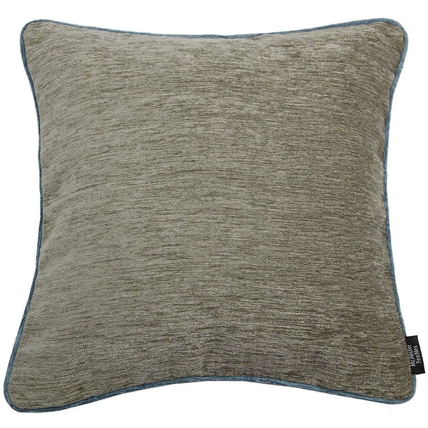 McAlister Textiles Alston Chenille Beige + Blue Cushion Cushions and Covers