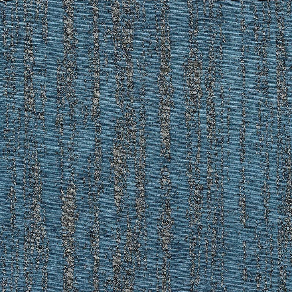 McAlister Textiles Textured Chenille Striped Fabric - Denim Blue-Fabrics-
