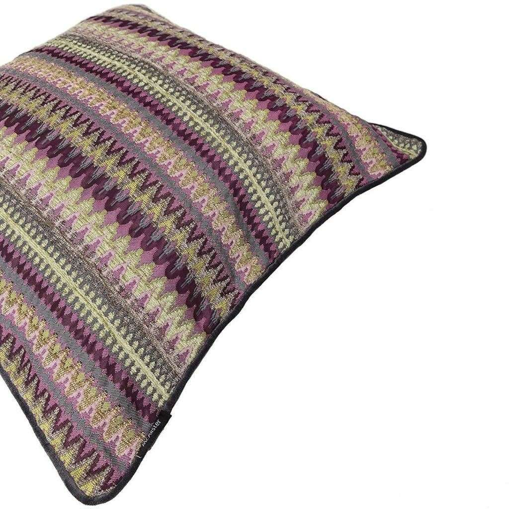 McAlister Textiles Curitiba Aztec Pink + Grey Aztec Cushion Cushions and Covers