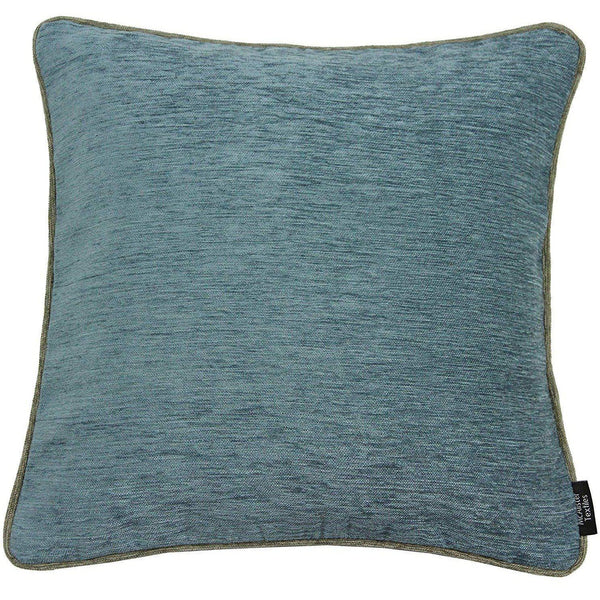 McAlister Textiles Alston Chenille Blue + Beige Cushion Cushions and Covers
