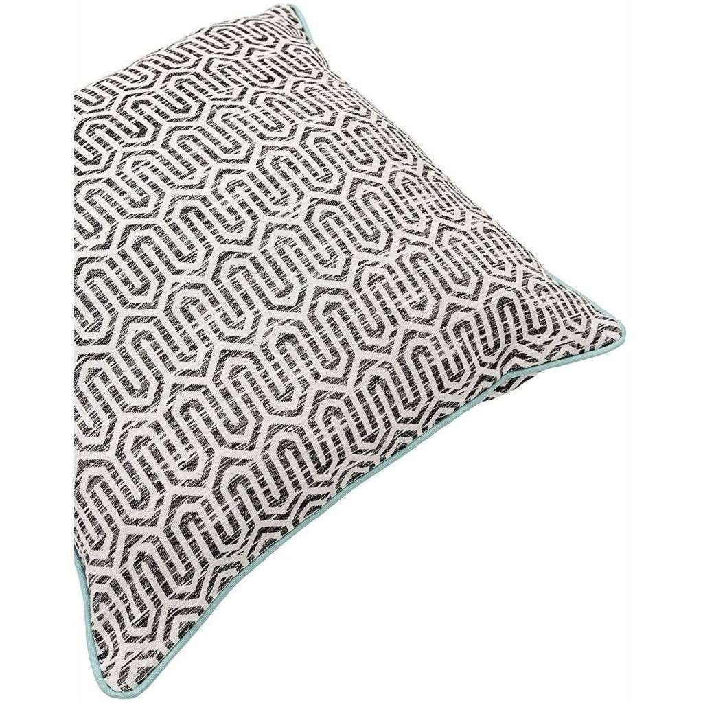 McAlister Textiles Costa Rica Black + White Abstract Cushion Cushions and Covers