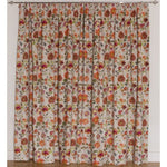 Laden Sie das Bild in den Galerie-Viewer, McAlister Textiles Renoir Floral Orange Velvet Curtains Tailored Curtains