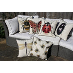 Load image into Gallery viewer, McAlister Textiles Bug's Life Black Beetle Cushion Cushions and Covers