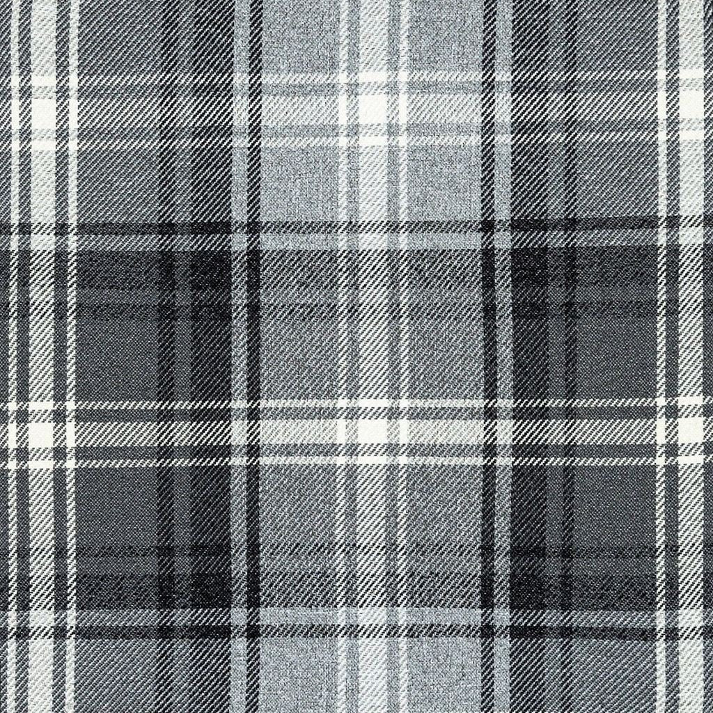 McAlister Textiles Angus Charcoal Grey Tartan Check Curtain Fabric Fabrics