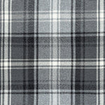 Load image into Gallery viewer, McAlister Textiles Angus Charcoal Grey Tartan Check Curtain Fabric Fabrics