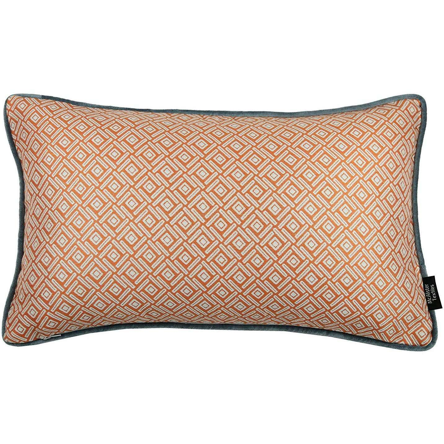 McAlister Textiles Elva Geometric Burnt Orange Cushion Cushions and Covers Cover Only 50cm x 30cm