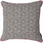 Cargar imagen en el visor de la galería, McAlister Textiles Acapulco Black + White Abstract Cushion Cushions and Covers Polyester Filler 43cm x 43cm