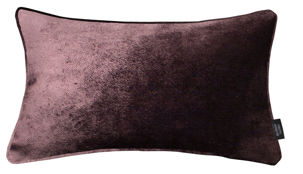 McAlister Textiles Aubergine Purple Crushed Velvet Cushions Cushions and Covers Cover Only 50cm x 30cm