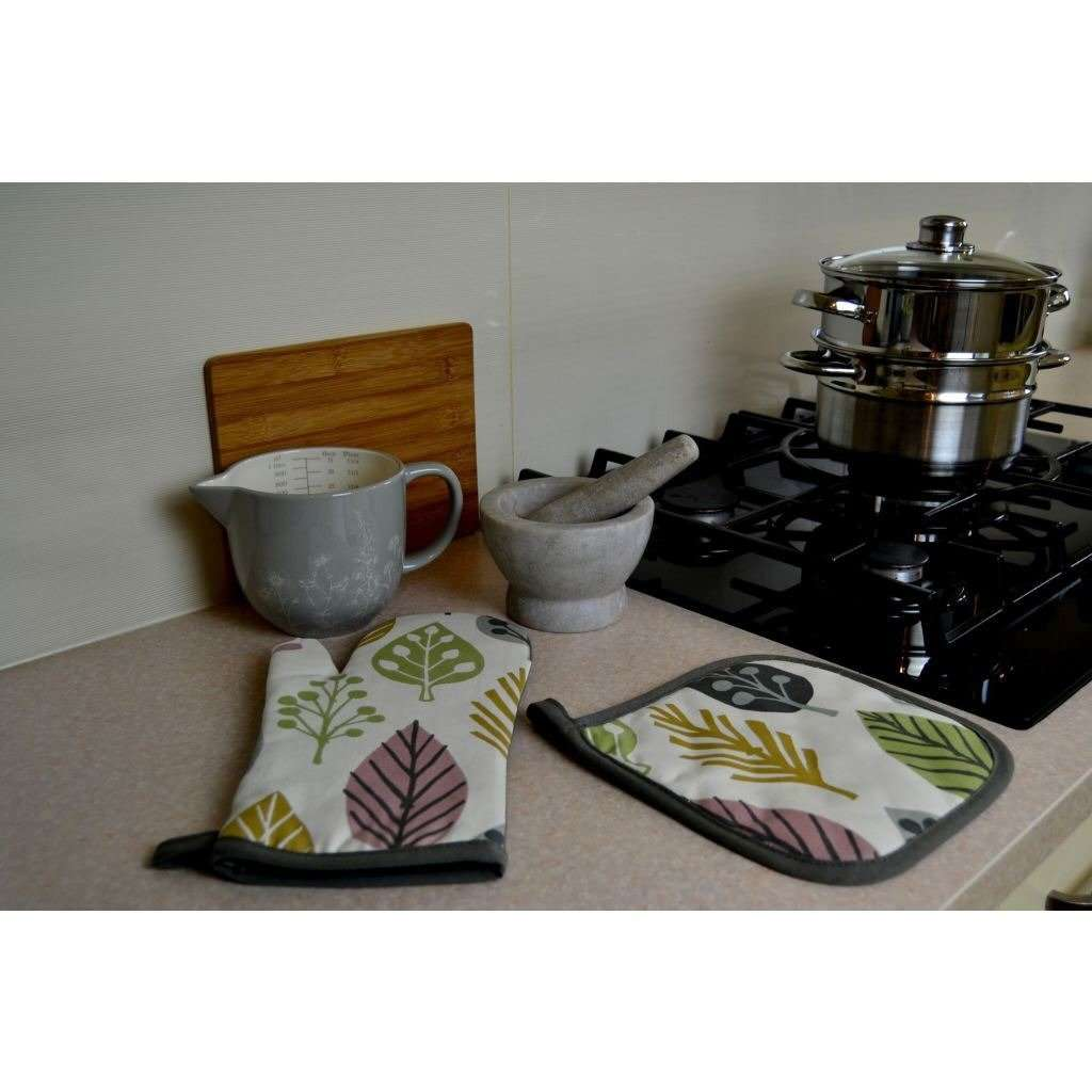 McAlister Textiles Magda Pink Cotton Print Oven Mitt Kitchen Accessories
