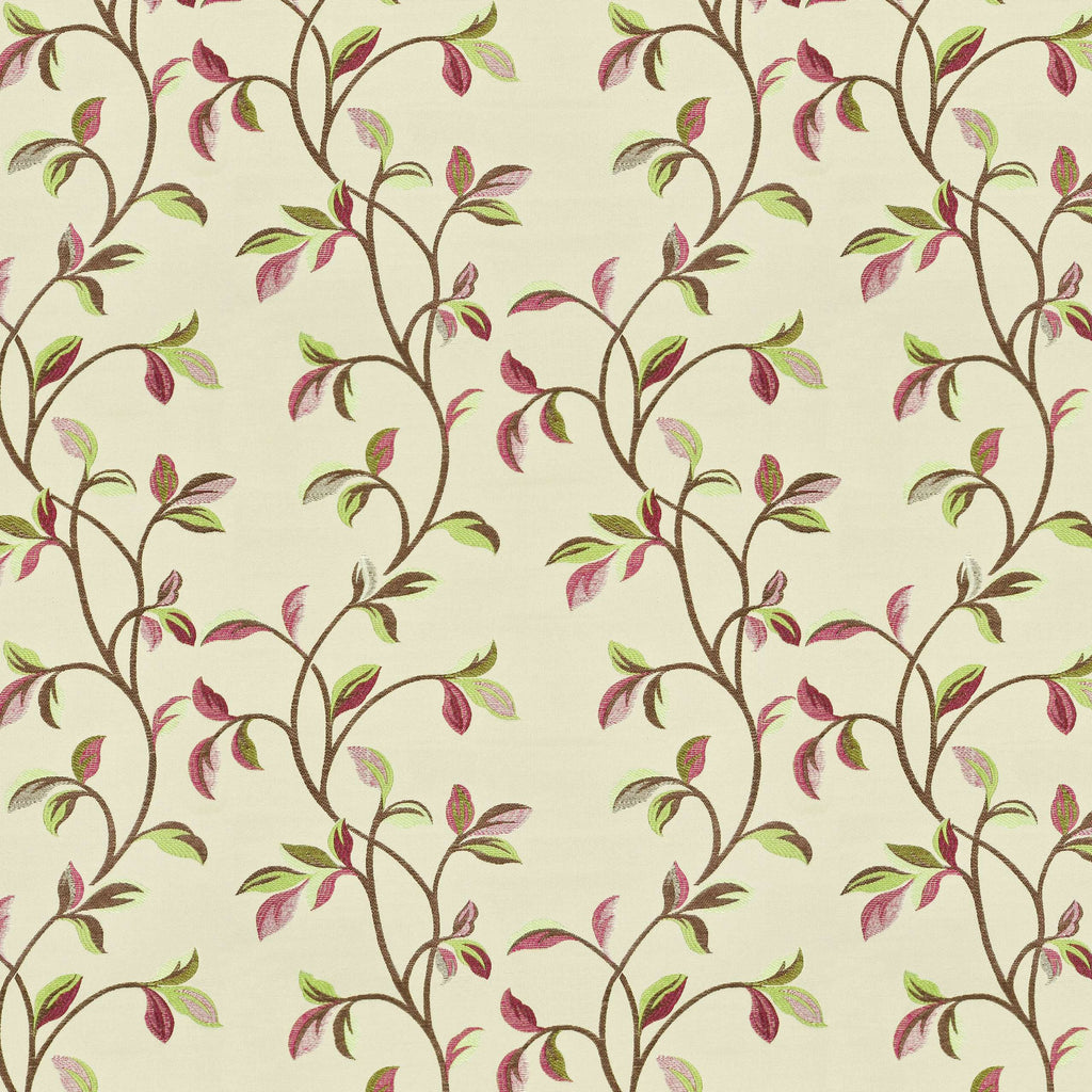McAlister Textiles Annabel Floral Cherry Red Fabric Fabrics 1 Metre
