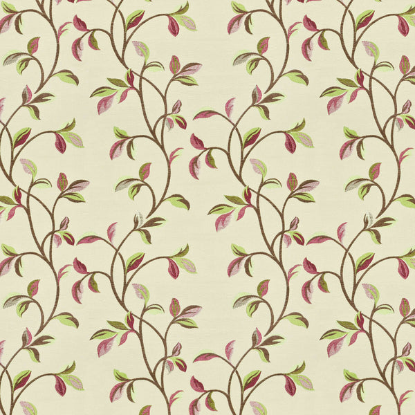 McAlister Textiles Annabel Floral Cherry Red Fabric Sample Fabrics