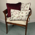 Load image into Gallery viewer, McAlister Textiles Annabel Floral Cherry Red Cushion Cushions and Covers