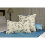 Load image into Gallery viewer, McAlister Textiles Annabel Floral Duck Egg Blue Cushion Cushions and Covers