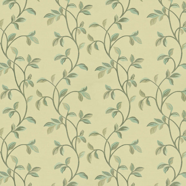 McAlister Textiles Annabel Floral Duck Egg Blue Fabric Sample Fabrics