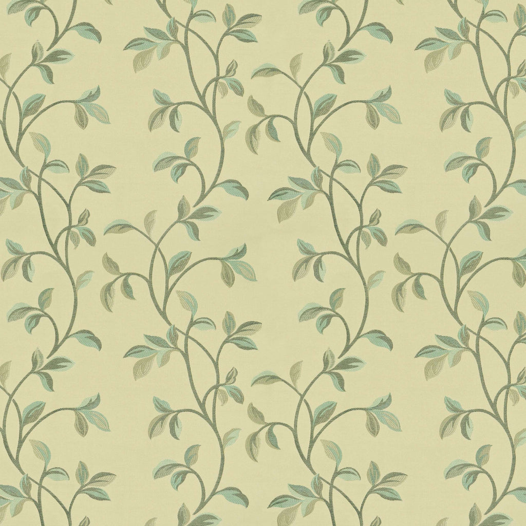 McAlister Textiles Annabel Floral Duck Egg Blue Fabric Fabrics 1 Metre