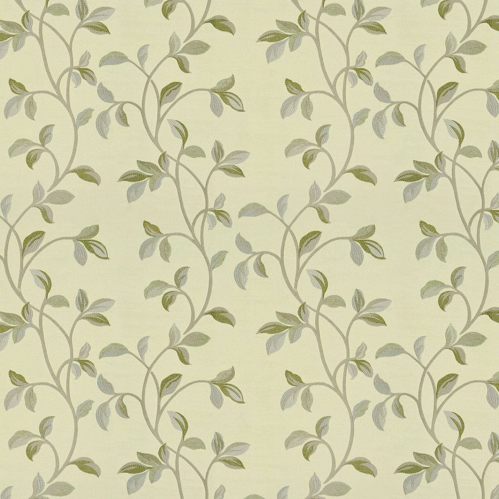 McAlister Textiles Annabel Floral Sage Green Fabric Sample Fabrics