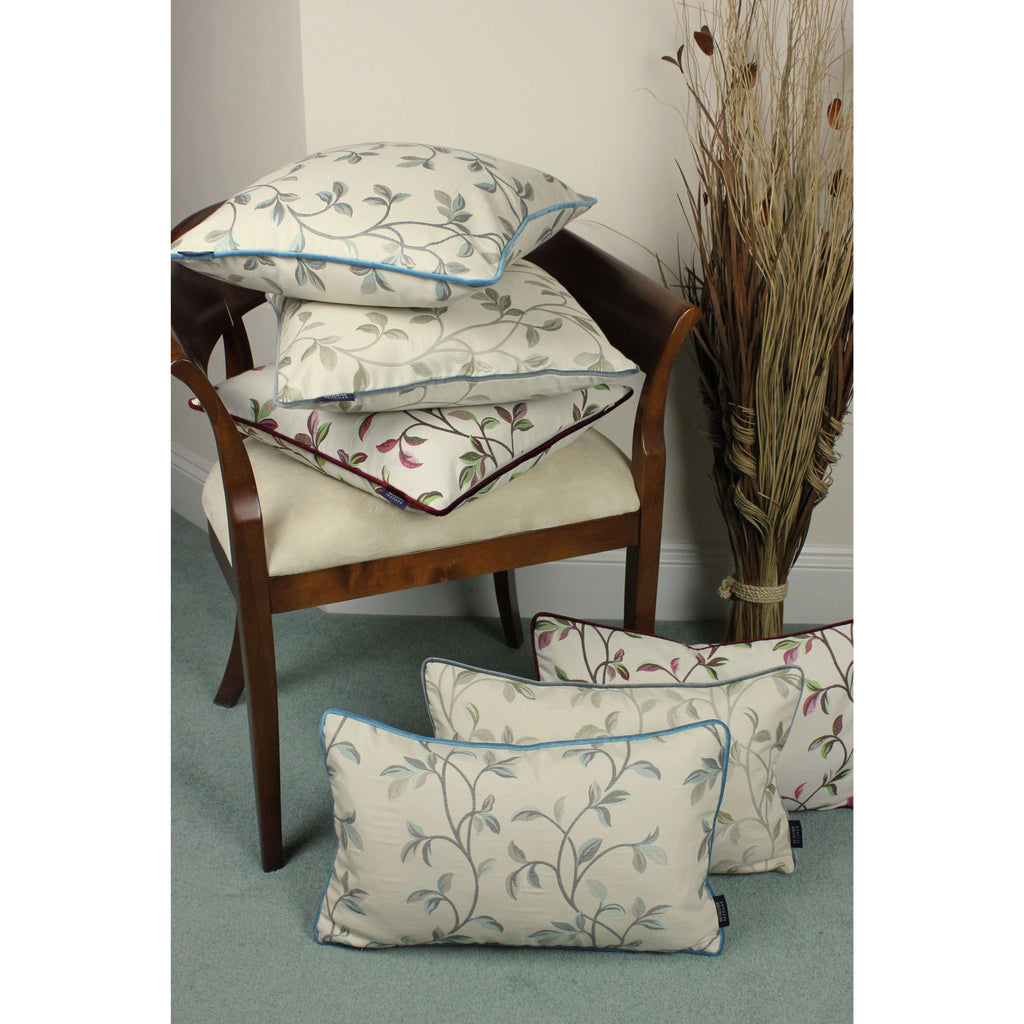 McAlister Textiles Annabel Floral Sage Green Cushion Cushions and Covers
