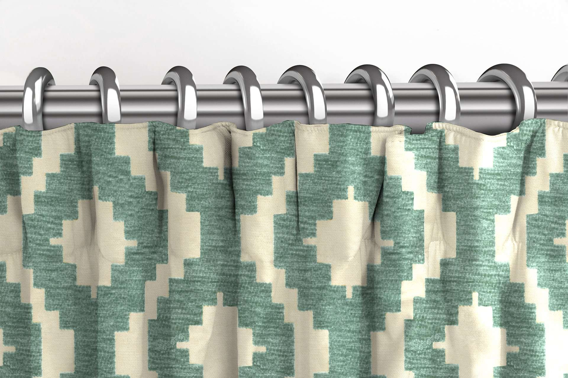 McAlister Textiles Arizona Geometric Duck Egg Blue Curtains Tailored Curtains
