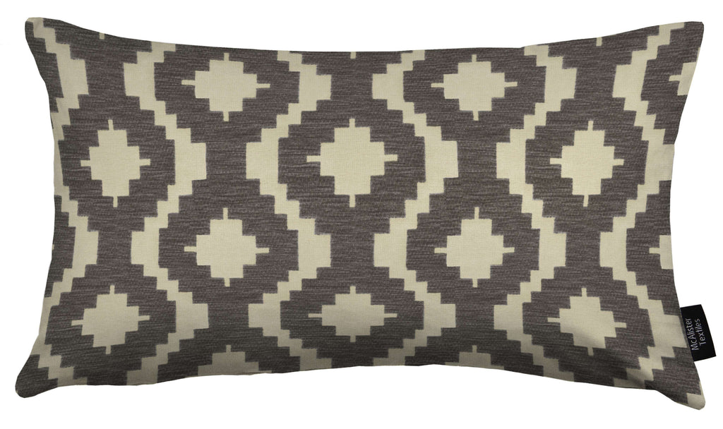 McAlister Textiles Arizona Geometric Charcoal Grey Cushion Cushions and Covers Cover Only 50cm x 30cm